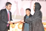 Mr. Raheel Formoli gives certificate to the top student