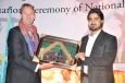 General Manager Shah Pour presents a gift on behalf of NAEC to Mr. Henk Jan Bakker